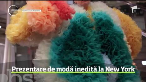 Prezentare de modă inedită la New York