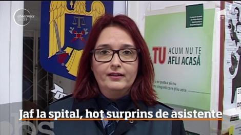 Un individ a jefuit vestiarul asistentelor de la Spitalul Judeţean Arad, deşi instituţia este păzită non-stop