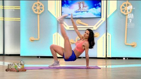 Fitness la Neatza cu Diana Stejereanu. Antrenament pentru abdomen și coapse
