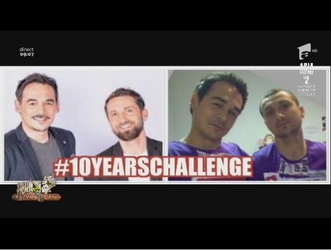 """Dani și Răzvan au acceptat provocarea """"10 year challenge"""". Cum arătau în urmă cu un deceniu. """"Sunt mândru de munca mea"""" – Video"""