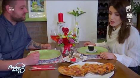 Aromă și savoare. Cum se prepară pizza în formă de inimioară
