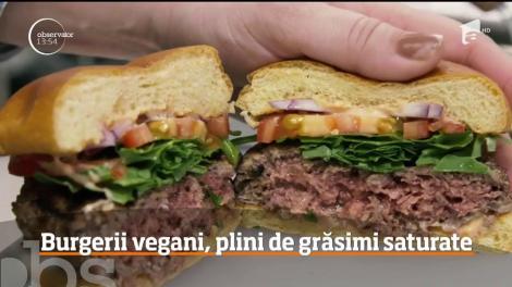 Burgerii vegani sunt mai nesănătoşi decât cei făcuţi din carne!
