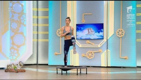 Fitness la Neatza cu Diana Stejereanu. Antrenament anticelulitic pe saltea rebound