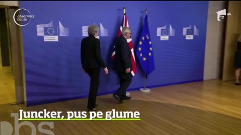 Premierul britanic Theresa May s-a întâlnit din nou, la Bruxelles, cu preşedintele Comisiei Europene, Jean-Claude Juncker
