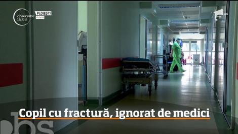 Copil cu fractură ajuns la Spitalul de Pediatrie din Ploieşti, ignorat de medici