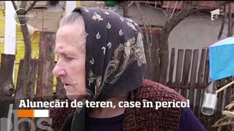 Zece familii dintr-o comună din Neamţ riscă să rămână fără case, din cauza alunecărilor de teren