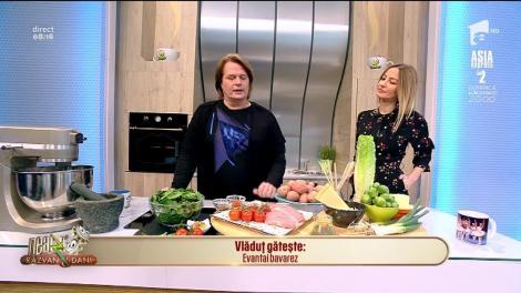 Rețeta zilei! Vlăduţ ne gătește Evantai bavarez. O rețetă de șnițele servite o garnitură foarte interesantă.