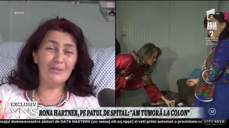 """Rona Hartner, pe patul de spital: """"Am tumoră la colon"""""""
