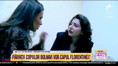 """Simona Gherghe, cu ochii în lacrimi: """"Să vină poliția!"""" Florentina, acuzată de escrocherie, a fugit din platoul Acces Direct!"""