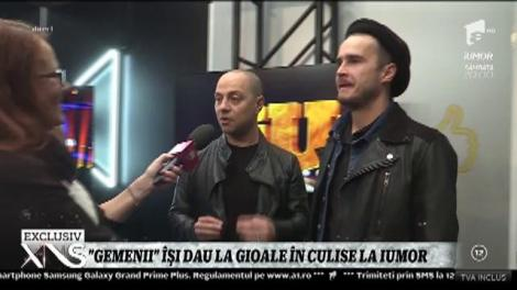 """Dan Badea şi Şerban Copoţ îşi dau la """"gioale"""" în culisele iUmor! Cine are mai mult umor?"""