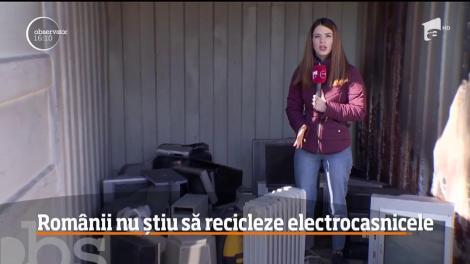 Românii, pe ultimele locuri în Uniunea Europeană la capitolul reciclarea deşeurilor electrice