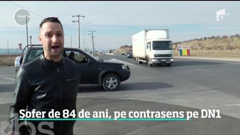 Șofer de 84 de ani, pe contrasens pe DN1, între Ploieşti şi Câmpina