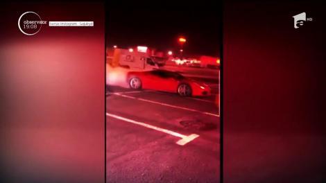 Aroganţele lui Victoraş Micula! Tânărul excentric s-a lăsat filmat în timp ce făcea drifturi în parcarea unui mall din Oradea