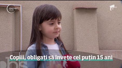 De la patru ani, copiii români vor intra în învăţământul obligatoriu. Noua lege a Educaţiei aduce o nouă reformă
