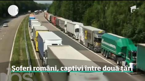 Sute de şoferi de TIR prinşi în blocaje imense la graniţa dintre Franţa şi Marea Britanie