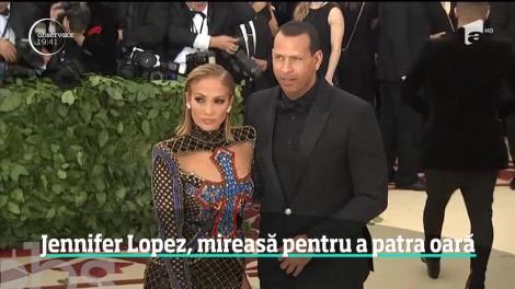 Cântăreaţa Jennifer Lopez se mărită pentru a patra oară, la aproape 50 de ani