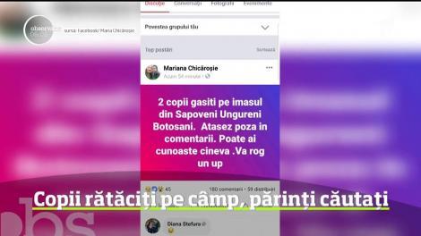 Este alertă într-un sat din judeţul Botoşani, după ce doi minori au fost găsiţi pe un câmp din localitate