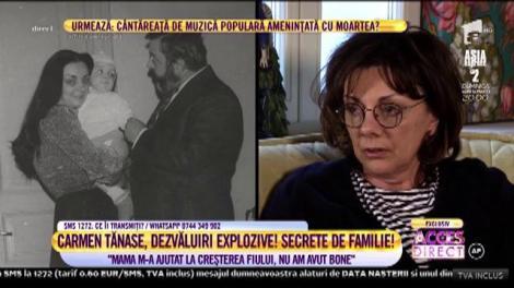 """Carmen Tănase, dezvăluiri inedite despre fiul ei! """"Este foarte sofisticat și încăpățânat"""" - Video"""