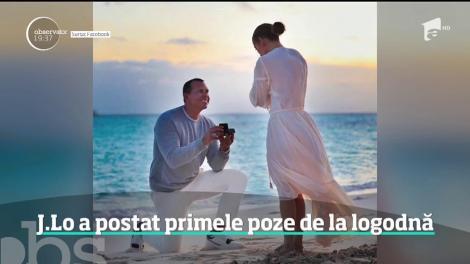 Jennifer Lopez a postat primele poze de la logodnă