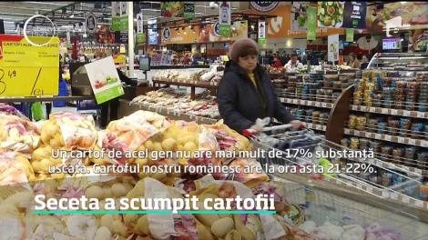 Cartofii, consideraţi cândva mâncarea săracului, nu şi-i mai permite orcine
