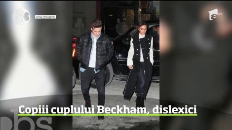 Copiii soţilor Beckham suferă de dislexie