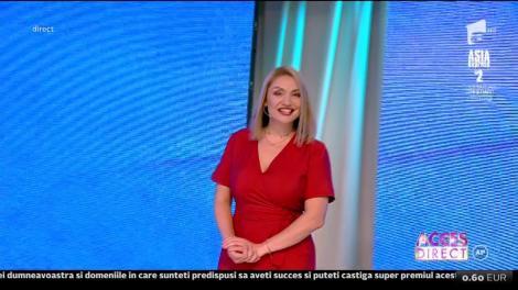 Cristina Cioran, noua prezentatoare a emisunii Acces Direct: De astăzi sunt gazda dumneavoastră, până la întoarcerea Simonei Gherghe