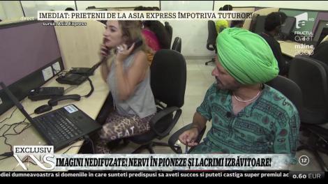 Imagini nedifuzate din Asia Express! Ana Morodan: ,,Să lucrezi la call-center e Iadul!''