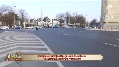 Aproape trei mii de transportatori protestează în Piața Victoriei!