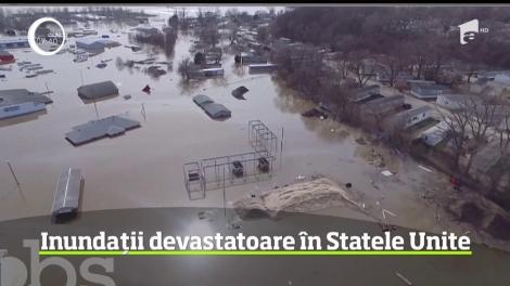 Este stare de urgenţă în trei state federale de pe cursul fluviului Missouri, acolo s-au produs inundaţii fără precedent
