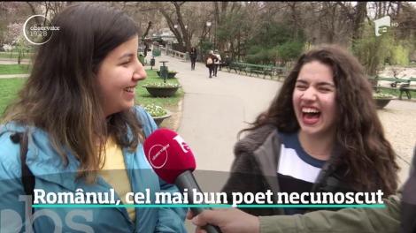 Românul, cel mai bun poet necunoscut. De Ziua Internaţională a Poeziei elevii s-au întrecut în rime despre școală