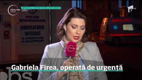 Gabriela Firea, operată de urgenţă. Este a doua operaţie pe care o face în doar două luni