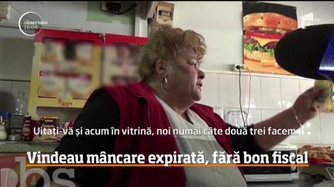 Vindeau mâncare expirată, fără bon fiscal. S-a întâmplat într-un restaurant fast-food din Bistriţa-Năsăud