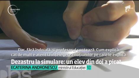 Dezastru la simulare: un elev din doi a picat examenul. Ministrul Educaţiei dă vina pe elevi