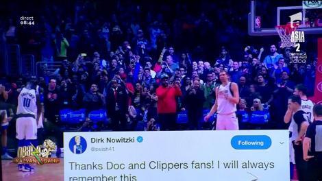 Smiley News. Dirk Nowitzki, aplaudat de fanii echipei adverse de baschet