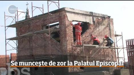 Palatul Episcopal Greco-Catolic din Oradea se reface după incendiul devastator