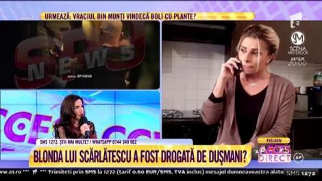 Blonda lui Chef Cătălin Scărlătescu, la un pas de moarte! Maria Andria susține că i s-ar fi pus droguri în pahar