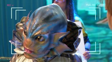 """Omul-amfibie, personajul principal al filmului """"Shape of Water"""", a ieşit la proteste în Piaţa Victoriei!"""