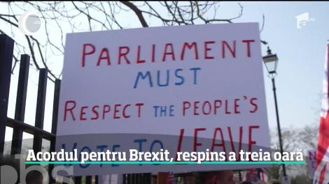 Acordul pentru Brexit, respins a treia oară