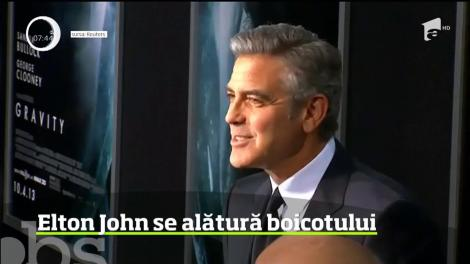 Elton John răspunde apelului lui George Clooney
