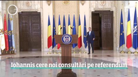 Klaus Iohannis cere noi consultări pe referendumul din 26 mai 2019