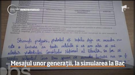 O elevă din Satu Mare a scris, la simulare, şase pagini cu toate nemulţumirile faţă de sistemul românesc de învăţământ