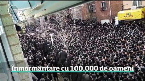 Imagini rare în New York la înmormântarea unui rabin de origine română