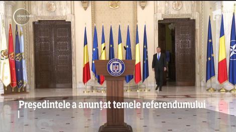 Românii au aflat care sunt temele la referendumul de luna viitoare. Preşedintele vrea două intrebări pe buletinul de vot