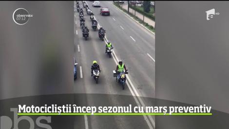 Motocicliștii încep sezonul cu marș preventiv