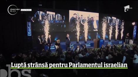 Luptă strânsă la alegerile parlamentare din Israel
