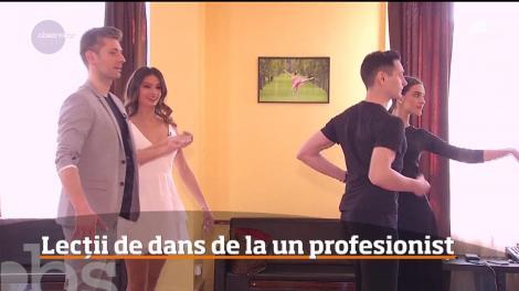 """Valentin Butnaru și Olivia Păunescu au luat lecții de dans! """"Am eșuat cu brio"""" - Video"""