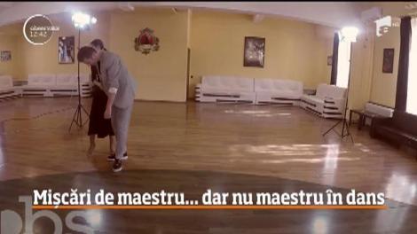 Valentin Butnaru și Olivia Păunescu au luat lecții de dans de la un profesionist