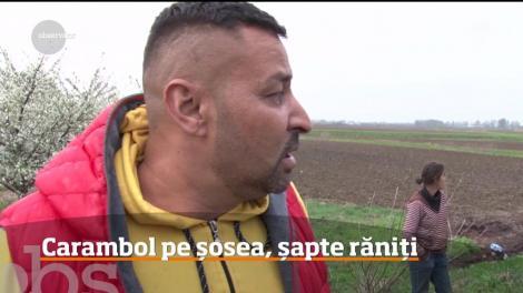 Şapte persoane au ajuns la spital, după ce trei autoturisme s-au ciocnit în judeţul Dâmboviţa!
