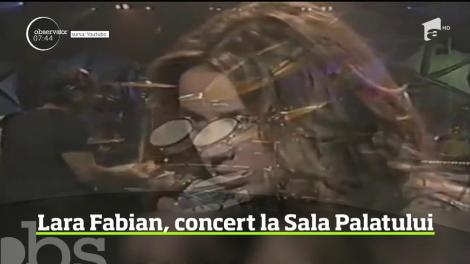 Lara Fabian va susţine în luna noiembrie două concerte la Sala Palatului