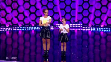 """Doina Teodoru și versiunea ei mai mică, pe scena iUmor! Jurații, luați la """"roast"""" de Sara, o copilă de nouă ani"""